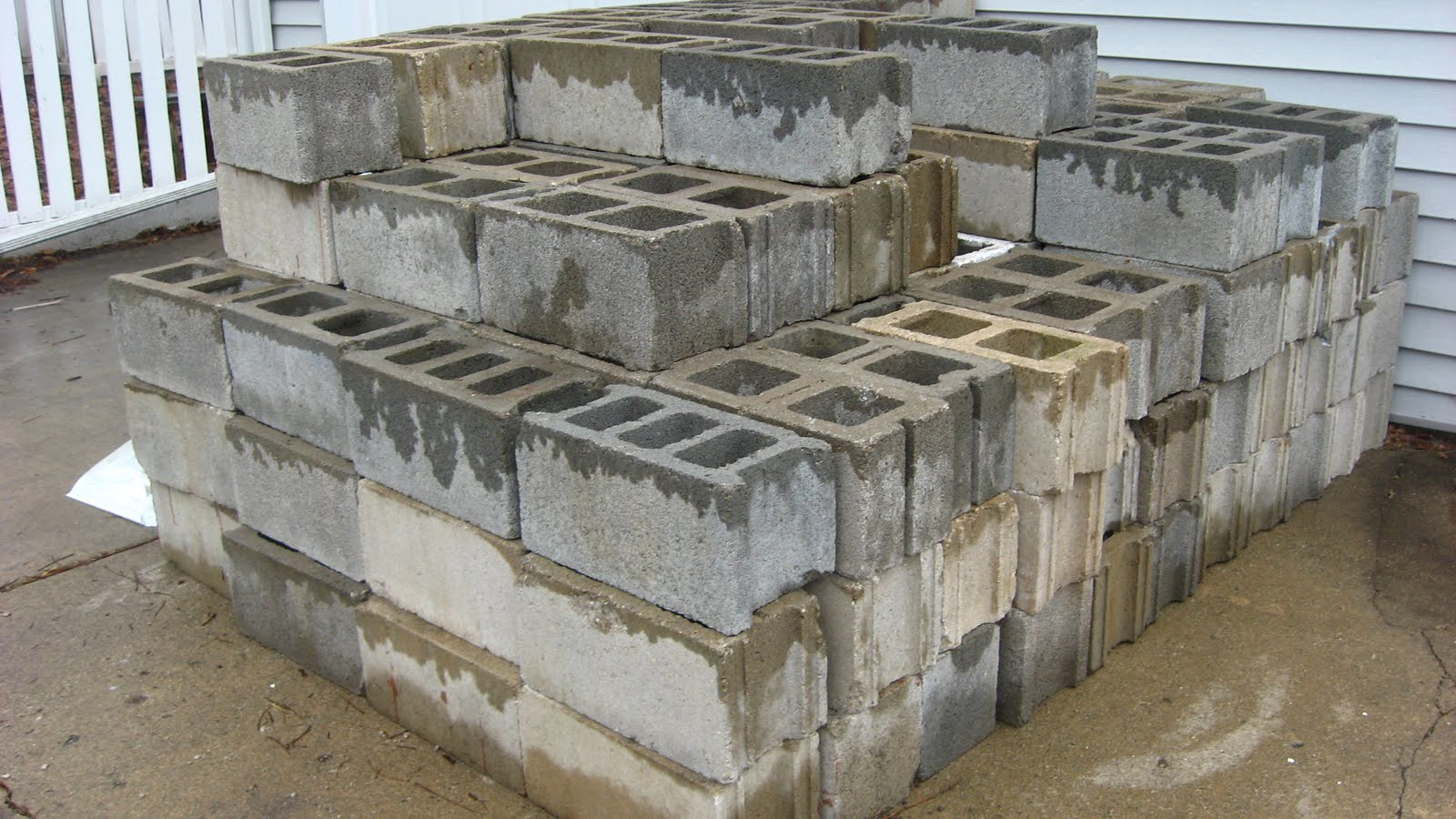 Happy home build your own concrete block raised beds for Steps to building your own house