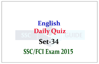 English: Daily Quiz for SSC/FCI Exams