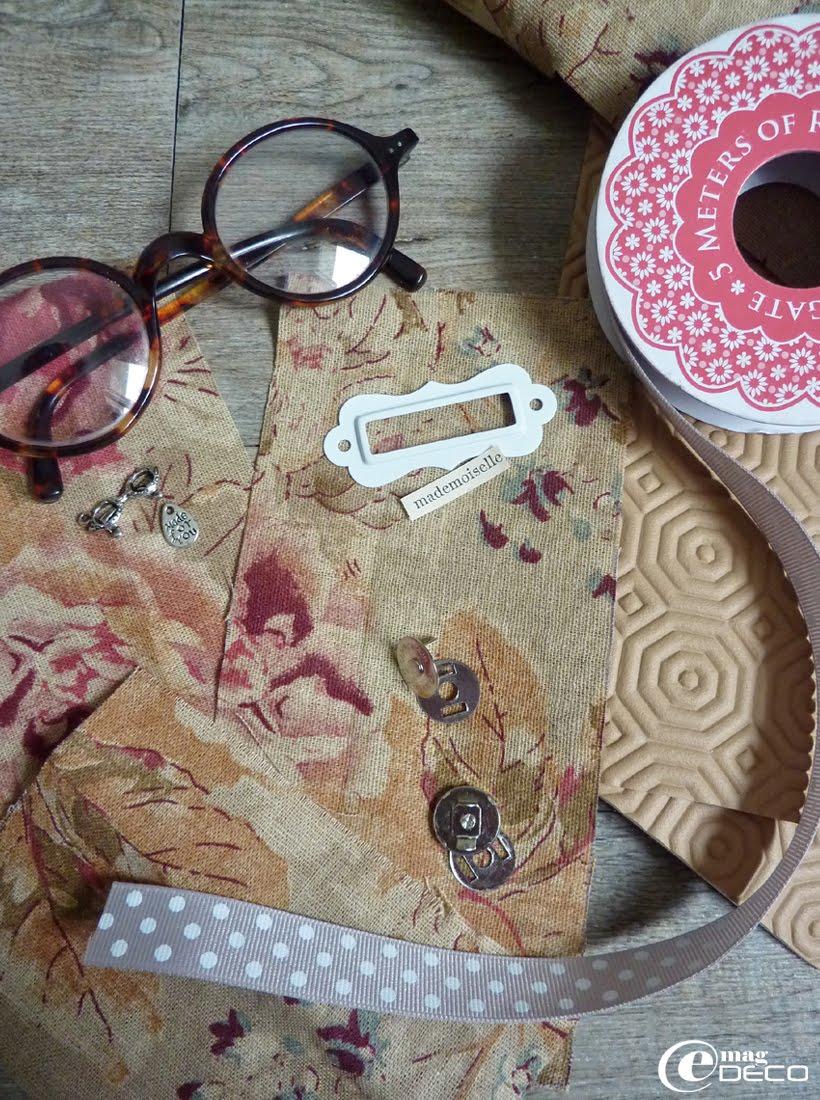 Fournitures nécessaires à la réalisation d'un étui à lunettes en Bulgomme