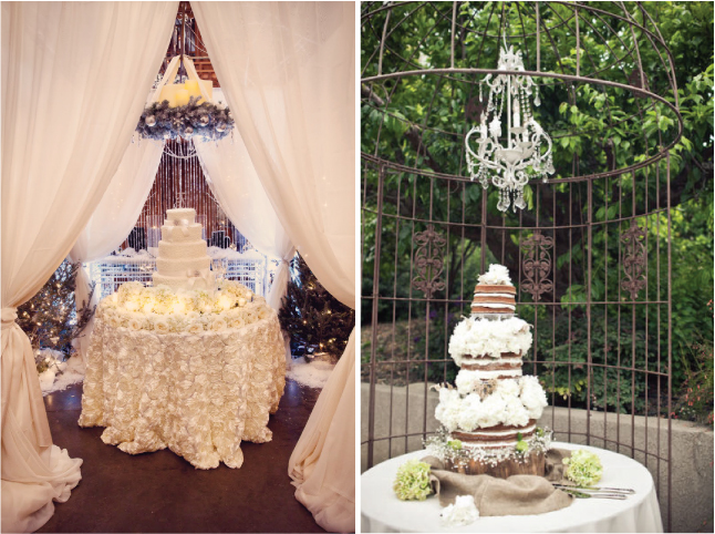 Bcgevents beauty sightings cake table ideas for Wedding cake table decorations