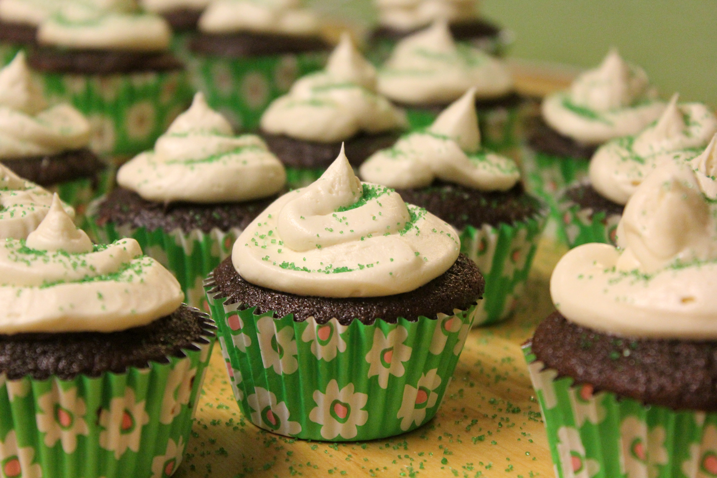 Carbomb Cupcakes