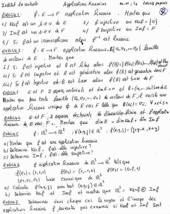 algèbre linéaire pdf