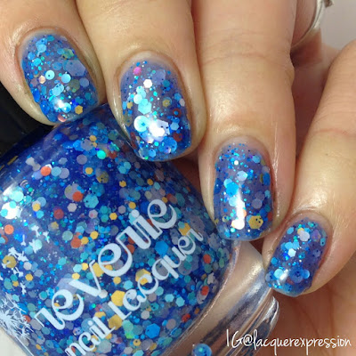swatch of reverie nail lacquer polish open water