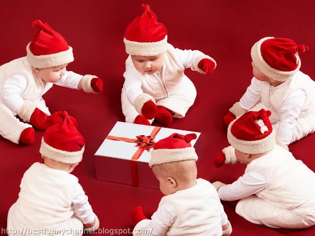 Funny Christmas babies.