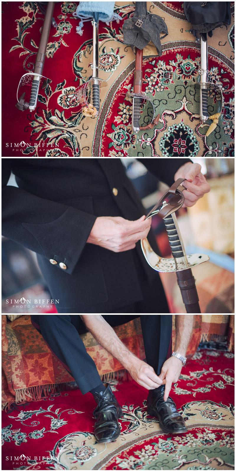 Military wedding details