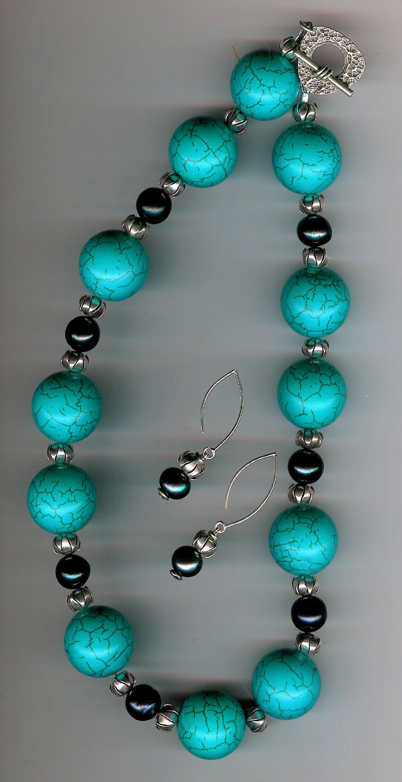232. Turquoise, Akoya Pearls and Thai Sterling Silver