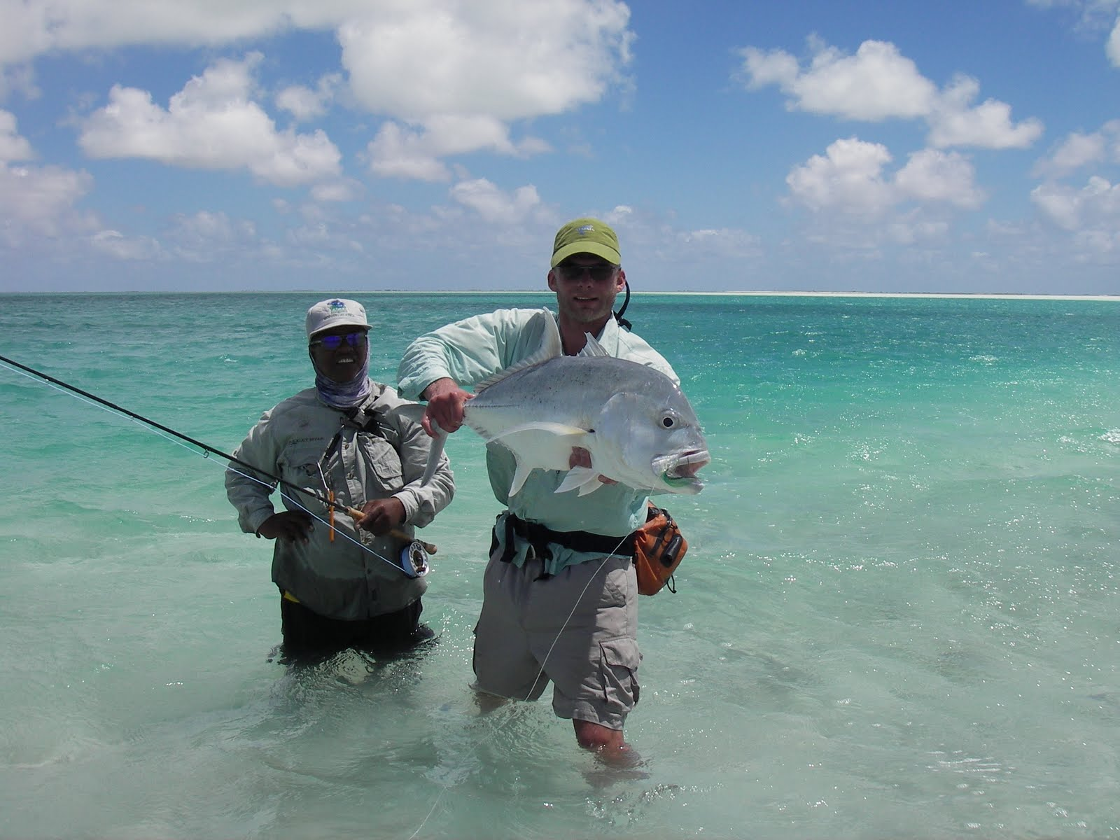 Photo of Jakob with Giant Trevally