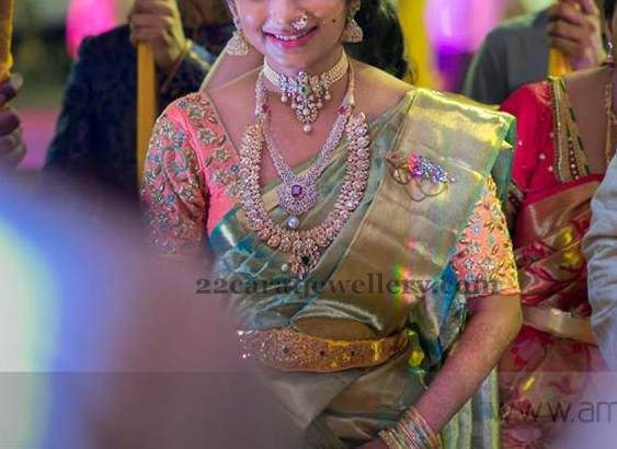 Opulent Bride in Diamond Jewelry