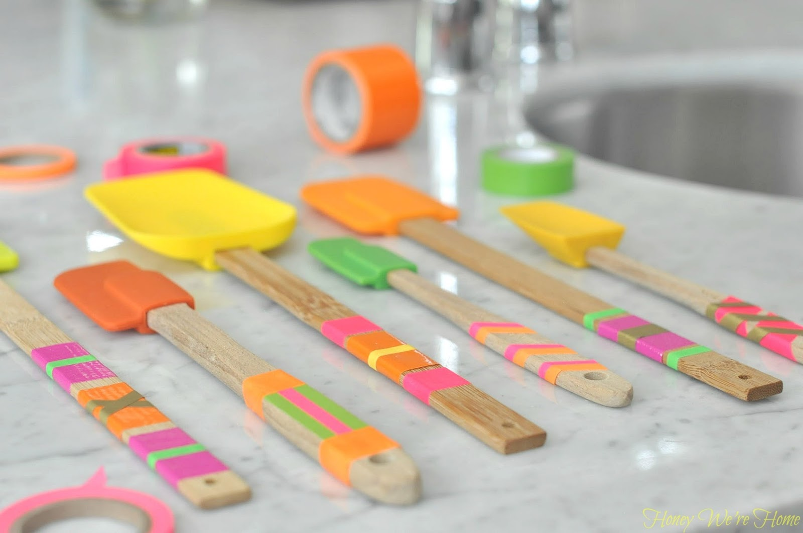 Washi Tape Kitchen Spatulas Honey We 39 Re Home