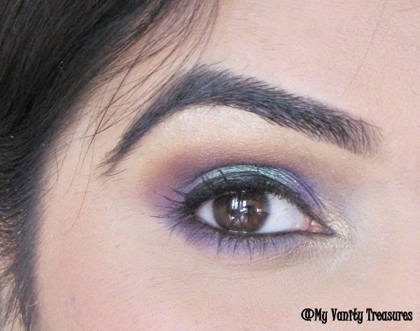Teal and Purple Eye Makeup