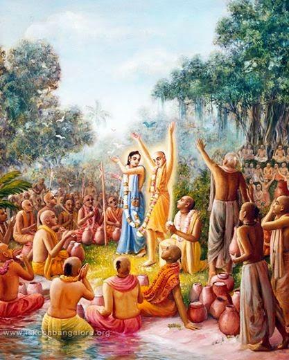 Raghunath Das Goswami and Nityanand in Panihatti Cida Dahi Festival