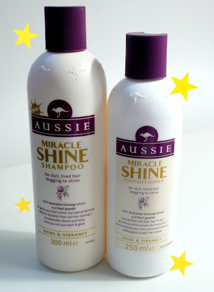 Aussie Miracle Shine Shampoo and Conditioner