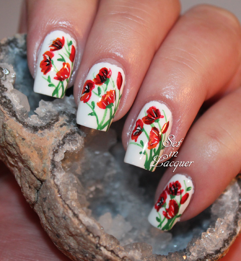 Floral Nail Art Is Popping Up With Poppies Set In Lacquer