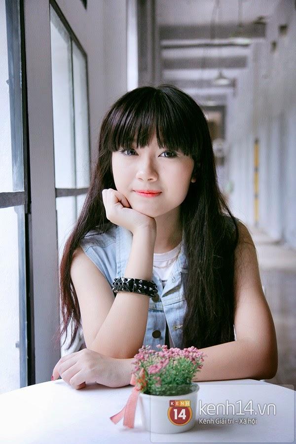 Kiều My - nữ sinh Hà thành gây sốt với hình ảnh cô gái xinh đẹp,