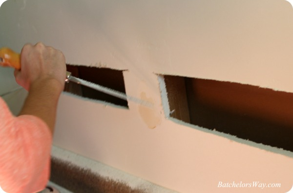 Batchelors Way: Girls Bathroom - Cutting the Wall for the Recessed ...