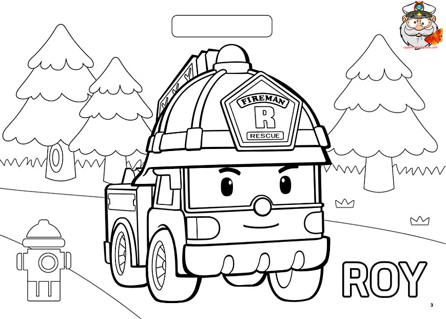 Robocar Poli Coloring Page Coloring Page