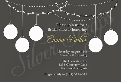hanging paper lantern invitation