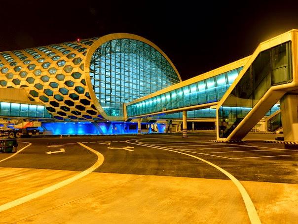 bandara futuristik cina