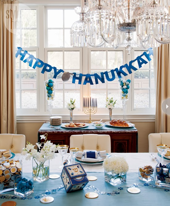 Recipes for living loving and laughing on the road jo for Hanukkah home decorations