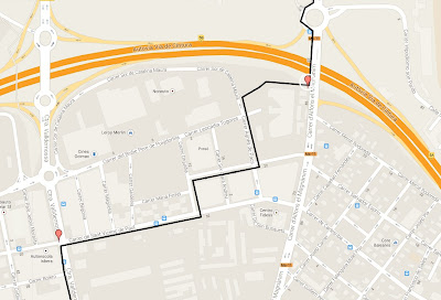 mapa carril bici carretera Valldemosa carretera de Sóller