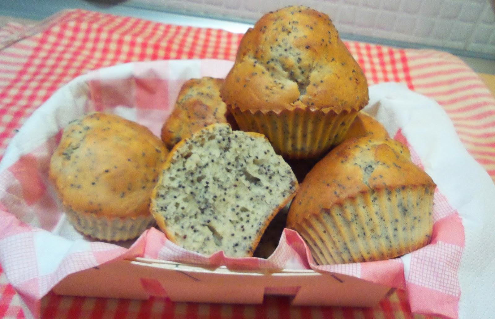 muffin limone e semi di papavero - senza burro-