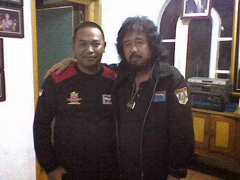 (Aml ) Edy Hartawan kanan dan Ketua  FB LMP Cianjur Asep Asdon