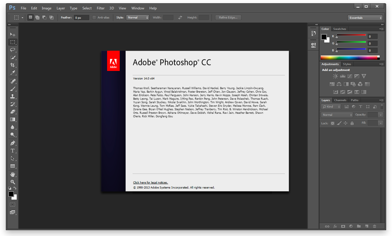 Within the 2014 release associated with Photoshop, the fundamental interface and functions mostly remain undamaged, but it consists of over a dozen news and feature enhancements.