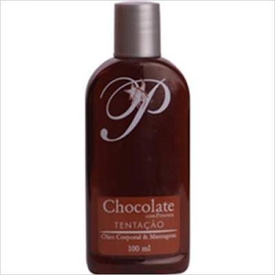 Óleo para massagem chocolate com pimenta