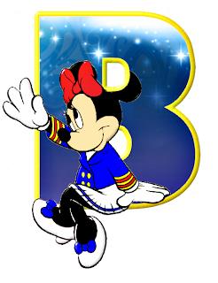Alfabeto de personajes Disney con letras grandes B Minnie.