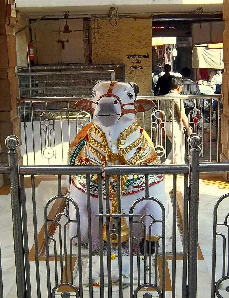 Nandi idol at a temple