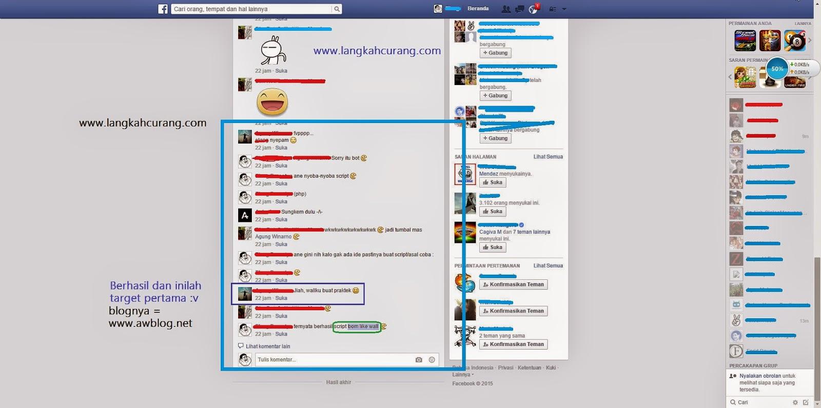 Lansiran Testimoni yang udah kena spam like wall blog greget :v