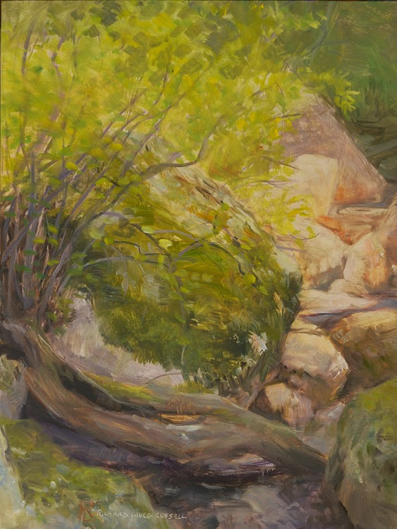 Boulder at Rest painting by Richard Lance Russell