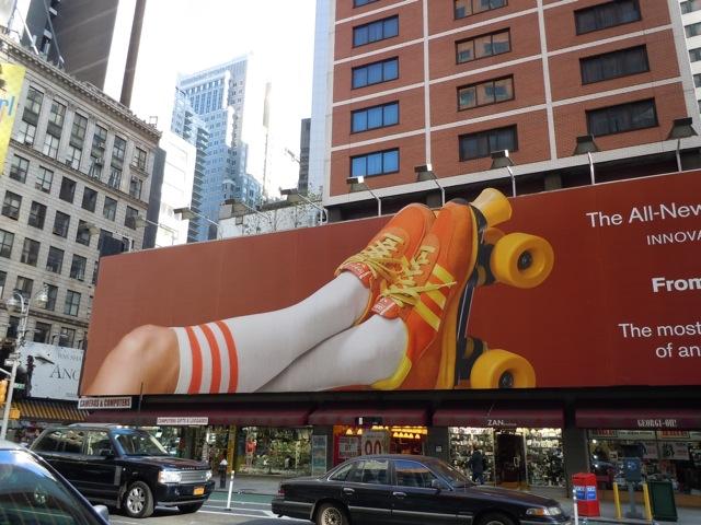 Nissan Versa rollerskates billboard NYC