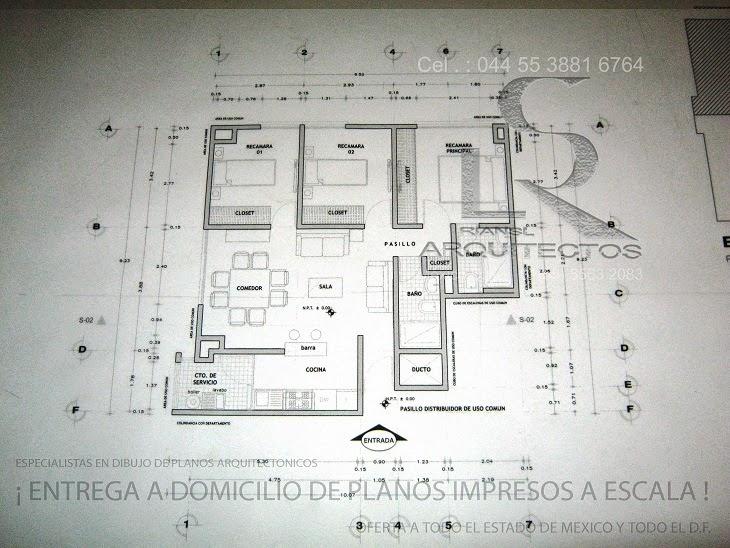 Especialistas en dibujo de planos arquitectonicos de casa for Ejes arquitectonicos