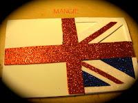 Bandera de Inglaterra en goma eva
