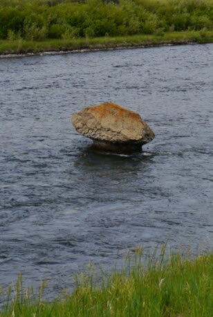 rock in Madison River