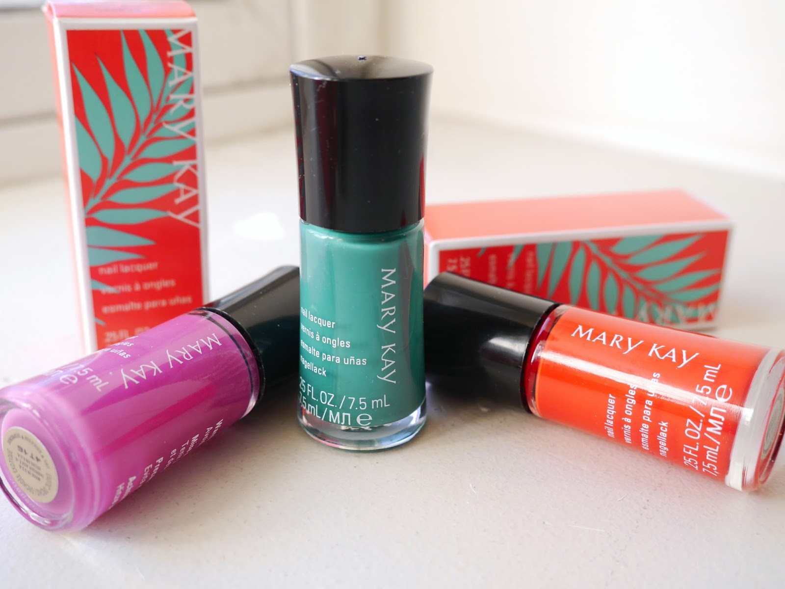 Mary Kay Paradise Calling Nail Polishes lagoon exotic orchid tropical mandarin