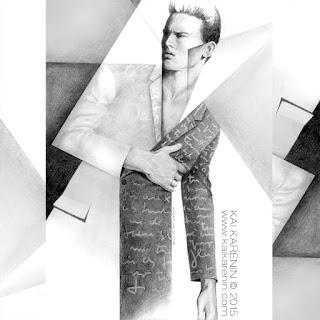 Dior Homme illustration by Kai Karenin