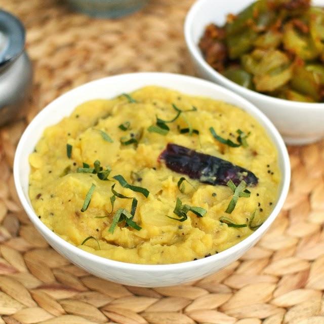 Mamidikaya Pappu (Andhra Style Raw Mango Dal)