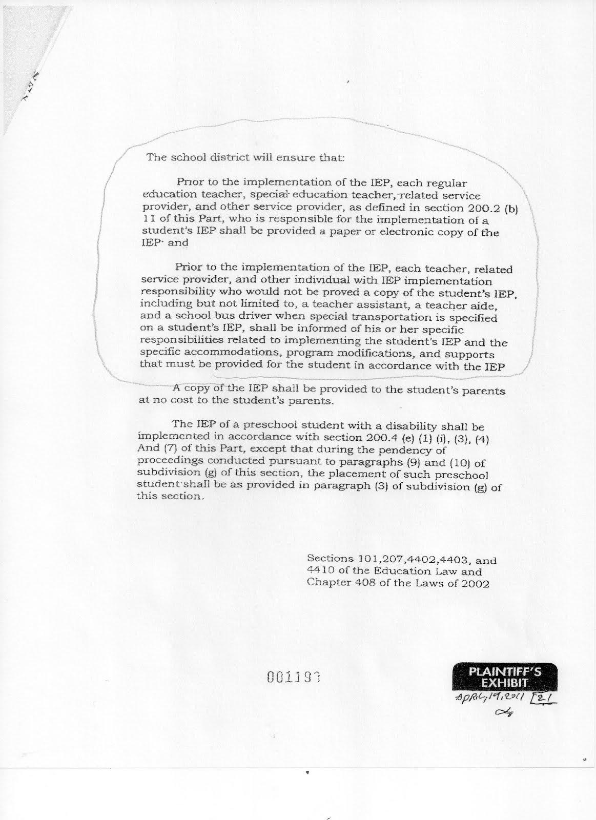 IEP Education Law