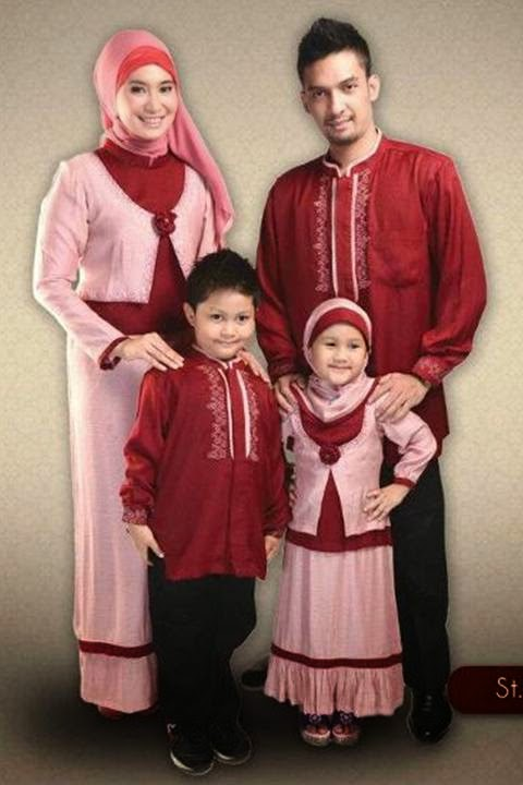 gambar sarimbit keluarga warna merah