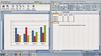 Membuat chart atau grafik  dalam microsoft word