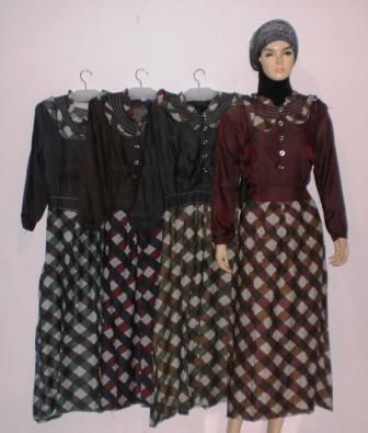 grosir baju muslim murah online tanah abang gamis denim