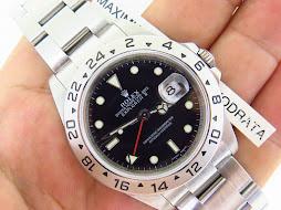 ROLEX EXPLORER II BLACK DIAL 40mm - ROLEX 16570 SERIE M YEAR 2008 (REHAUTE) - AUTOMATIC CAL 3186