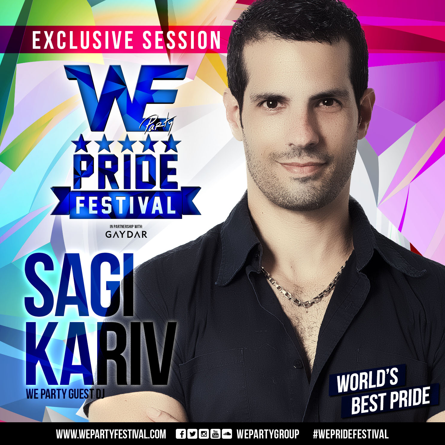 DJ Sagi Kariv - WE PARTY #WePrideFestival 2015