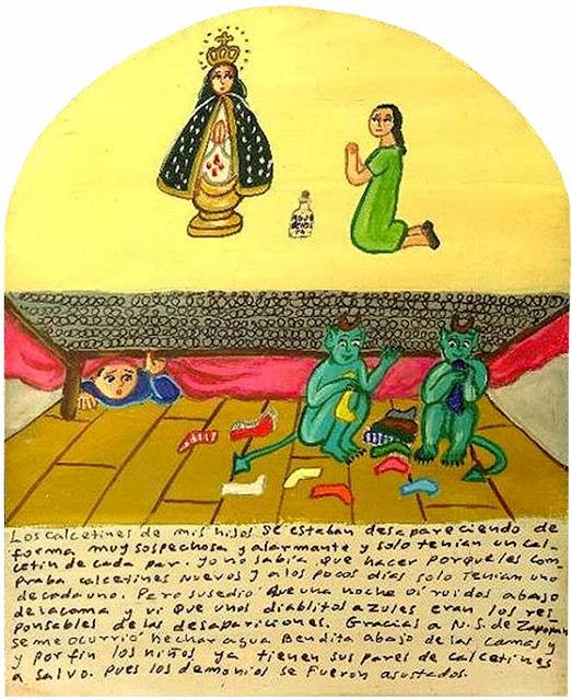 diablillos azules, exvoto mexicano