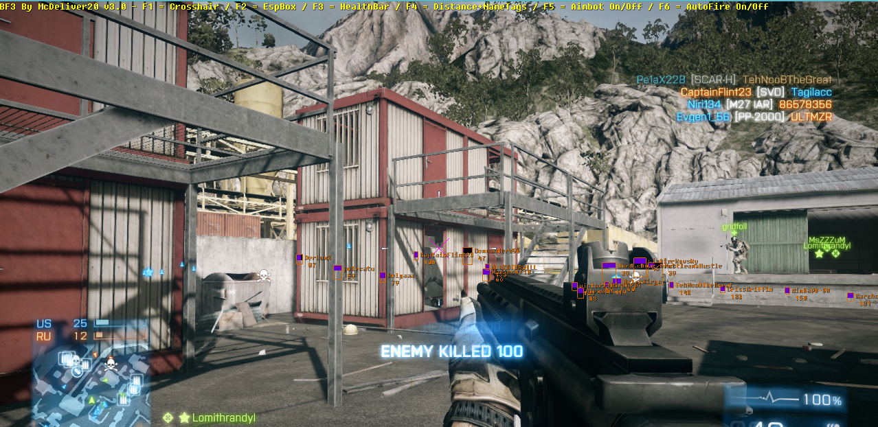 sesr2q Battlefield 3 BF3 By McDeliver v3.5 Cheats Hile Botu indir