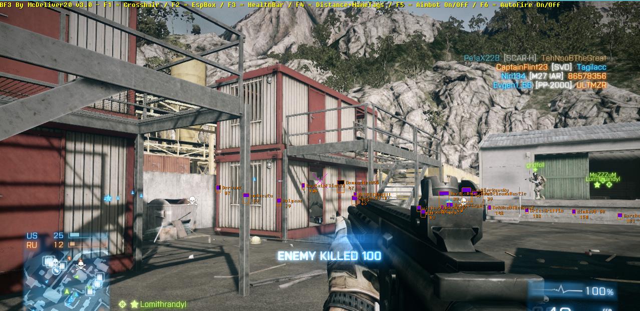 sesr2q Battlefield 3 BF3 By McDeliver v3.5 Cheats Hile Botu indir