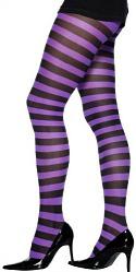 Purple Stripe Tights