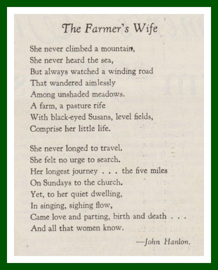 The Farmer S Wife Quilt Honoring Women Poetry Selections
